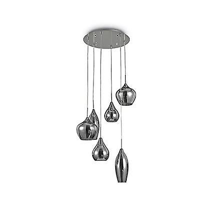 Ideal Lux Soft - 6 Light Spiral Cluster Ceiling Pendant Grey, E14