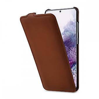 Case For Samsung Galaxy S20 Plus Ultraslim Brown In True Leather