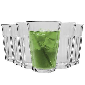 Duralex Picardie Highball Cocktail Glasses - 360ml Verre Tumblers - Pack de 6