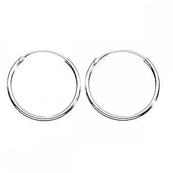 Beginnings Sterling Silver H036 Plain Hoop Earrings
