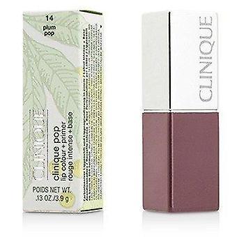 Clinique Pop Lip Colour + Primer - # 14 Plum Pop 3.9g or 0.13oz