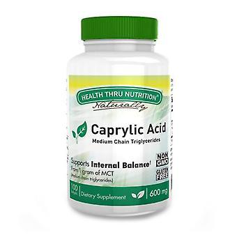 Health Thru Nutrition Caprylic Acid, 600 mg, 100 Softgels