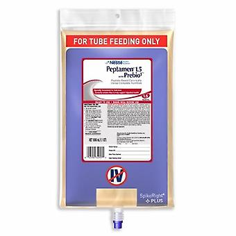 Nestle Healthcare Nutrition Tube Feeding Formula Peptamen 1.5 with Prebio1 1000 mL Bag Ready to Hang Unflavored Adult, 1 Each