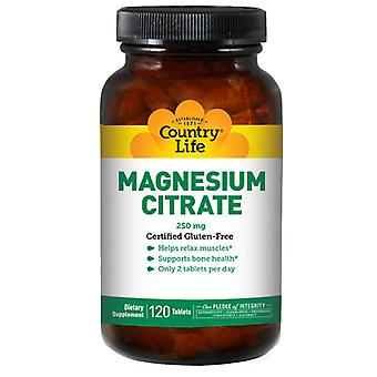Country Life Magnesium Sitraatti, 120 tabia