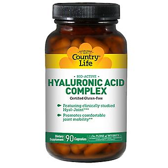 Country Life Bio-Active Hyaluronic Acid Complex, 90 Vcaps
