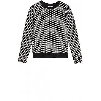 Sandwich Clothing Black & White Patterned Jumper
