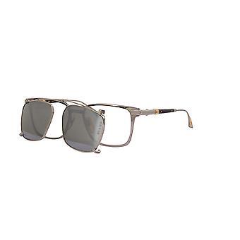 Dita Epiluxury EPLX.7 DEX007 With Clip-on 03 Black Palladium with Dark Grey Polarised-Silver Mirror Lens Sunglasses
