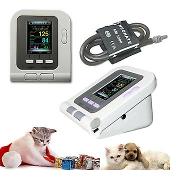 Veterinary Blood Pressure Monitor- Digital Electronic Sphygmomanomete Heart Rate Pulse Portable Tonometer
