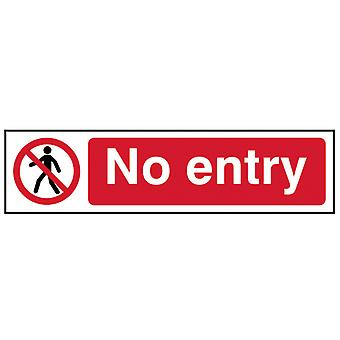 Scan No Entry - PVC 200 x 50mm SCA5052