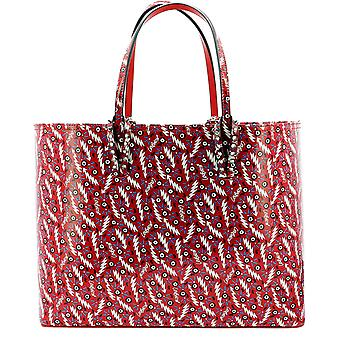 Christian Louboutin 1215018r251 Women's Red Patent Leather Tote