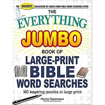 The Everything Jumbo Book of Large-Print Bible Word Sökningar: 160 Inspirerande pussel i stort tryck (Allt (R))