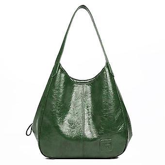 Casual Women Handbag Purse Large Capacity Tote Bag, Soft Patchwork Shoulder Bag