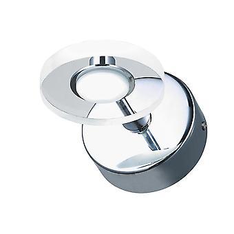 Italux Harmony - Moderne LED Wandleuchte Chrom, Warm weiß 3000K 210lm