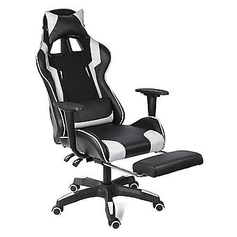 Lederen Executive Swivel Gamer Stoel lifting draaibare leunstoel voetsteun