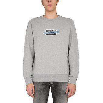 Diesel A010470kasl9cb Men's Grey Cotton Sweatshirt