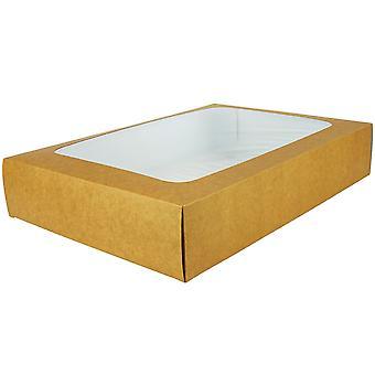 Vegware Large Sandwich Platter Box & Inserts