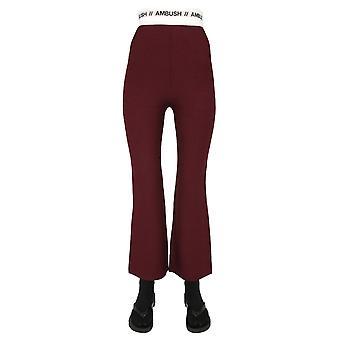 Agguato Bmhg003f20kni0013500 Pantaloni di lana bordeaux da donna