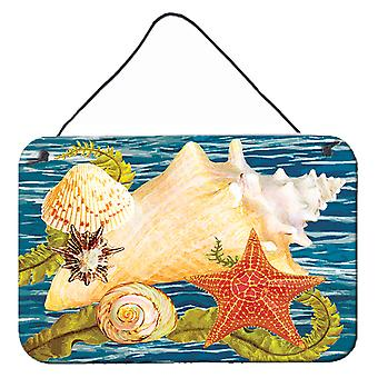 Conch Sjöstjärna och Hjärtmussla II Vägg eller dörr hängande utskrifter