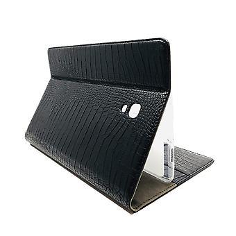 FONU Luxury Leather Crocodiles Bookcase Case Samsung Galaxy Tab A 10.5 2018 (T590 / T595) - Noir