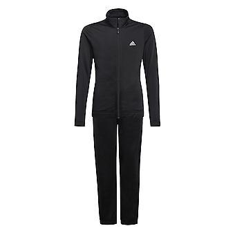 adidas Essentials Junior Girls Full Zip Tracksuit Suit Outfit Set Black
