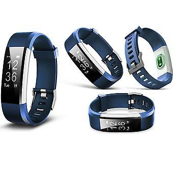 Aquário Touch Screen Fitness Activity Tracker com HRM Dinâmico - Azul