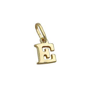 Pendant Initiale E 9k Gold