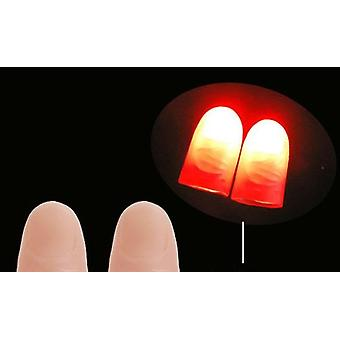 Makers Red Light Up Thumb Tips With Led Red Magic Thumb Tip Light Illusion Soft