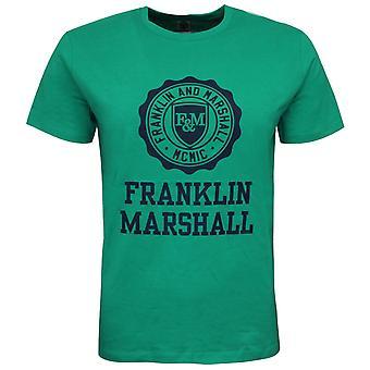 Franklin and Marshall Logo Top Short Sleeve Green Boys T-Shirt FMS0060 401