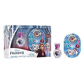 Disney Frozen II Gift Set 30ml EDT + 2x Nail Polish + Nail Gems