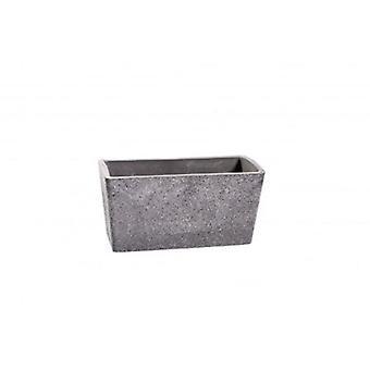 27Cm Stone Grey Rectangle Planter