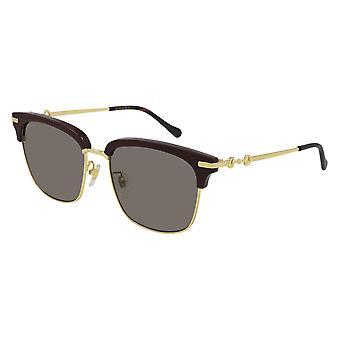 Gucci GG0918S 003 Burgundzkie-Złote/Zielone okulary przeciwsłoneczne