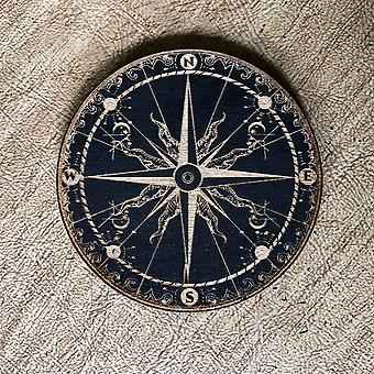Painted Wood Compass Magnet
