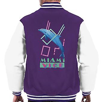 Miami Vice Dolphin Jump Men's Varsity Jacket