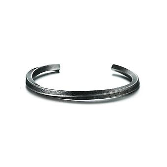 Stainless Steel Bangle, Women, Twisted Cuff Bracelet, Unisex, Casual Gents
