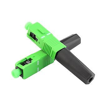 Zasilanie wstępnie wbudowane złącze Ftth Scapc Single Fiber Optic Scapc Quick Connector