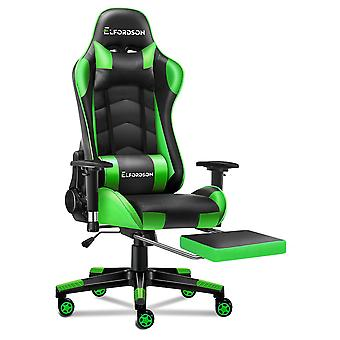 ELFORDSON Gaming Chair Office Executive Racing Seat PU Leather REGAN Green