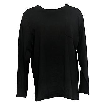 Isaac Mizrahi Live! Dames>Top Essentials Pocket Knit Black A389173