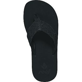 Reef Sandy Flip Flops in Black Black