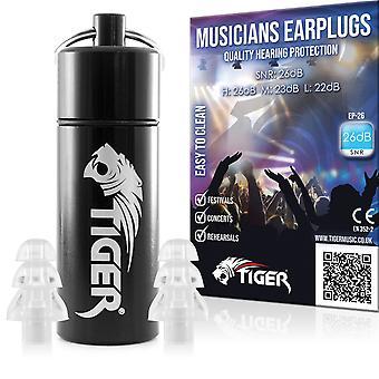 Tiger muzikanten filter oordopjes gehoorbescherming ruisonderdrukking oordopjes snr 26 db voor festival