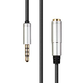 1.7M Auxiliary Extension Cable, 4-Pole TRRS 3.5mm Male to 3.5mm Female