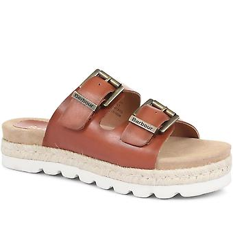 Barbour Womens Lola Leather Mule Sandals