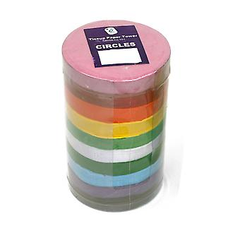 Bumper Tissue Paper Circles Tower - 4600 100mm Sheets in 10 Colours