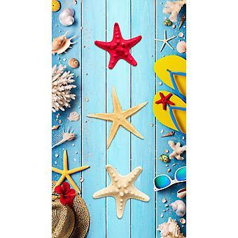 strandhandduk Beachy 100 x 180 cm sammet