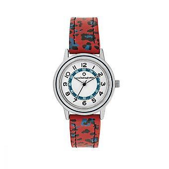LuluCastagnette Girl Watch - white dial - black and red bracelet
