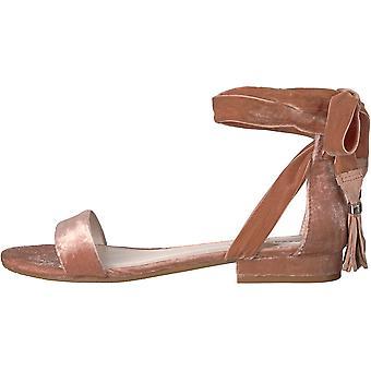 Kenneth Cole New York Women's Valen Strappy Ankle Wrap Tassel Velvet Sandal