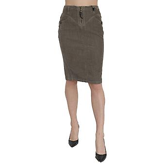 Roberto Cavalli High Waist Pencil Cut Knee Length Skirt - PAN70988