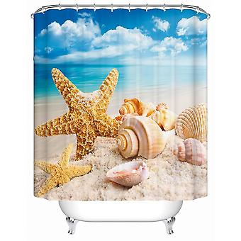 Seashells rannalla suihku verho