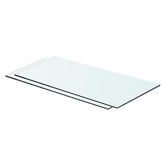 prateleiras vidaXL 2 pcs. vidro transparente 60 x 25 cm