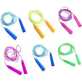 Jump Ropes - 7.8 Feet - Set Of 6 Assorted Colors For Boys And Girls Age 5-10 Year Old (random Color)