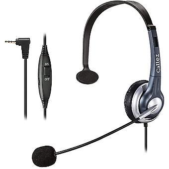 FengChun Telefon Headset 2,5mm Klinke Mono Mit Noise Cancelling Mikrofon, Festnetz Kopfhrer Fr